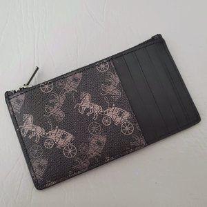 NEW COACH Horse Carriage Zip Coin card case holder